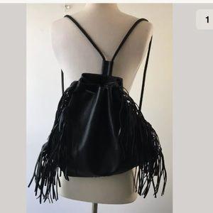 Victorias Secret Fringe Draw String Moto Backpack
